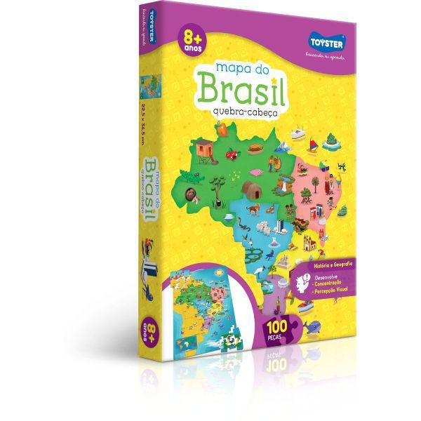 QUEBRA-CABECA CARTONADO MAPA DO BRASIL 100 PECAS