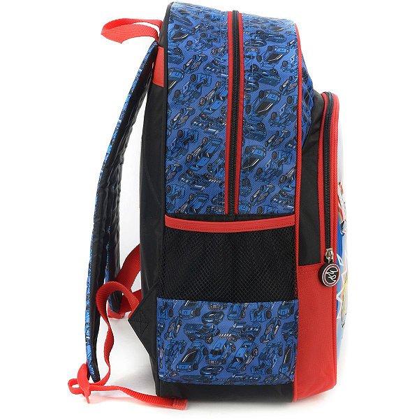 Mochila Escolar HOT WHEELS GD 3Bolsos Azul