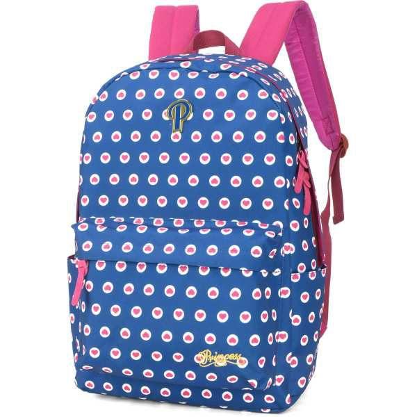 Mochila Escolar PRINCESS GD 3Bolsos Azul
