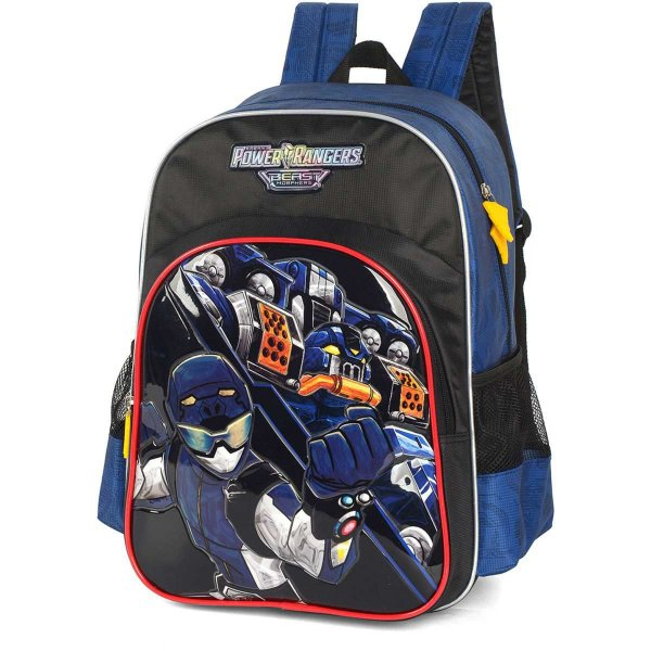 Mochila Escolar POWER.RANGERS GD 3Bolsos AZ.