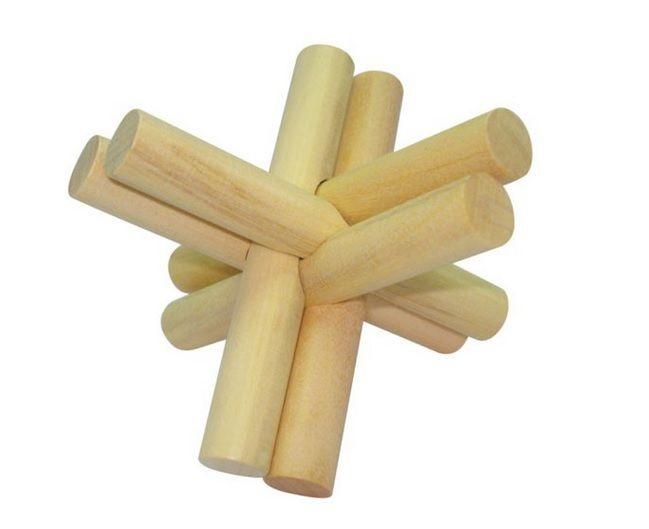Quebra cabeça de madeira Coleção Desafios Palitinhos