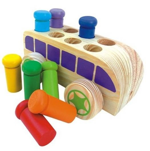 Brinquedo Pedagógico de madeira  Bondindinho  Bebê Encaixe
