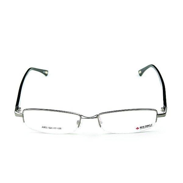 Armação para óculos de grau em Acetato Red Maple Chumbo