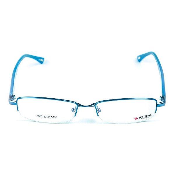 Armação para óculos de grau em Acetato Red Maple Azul