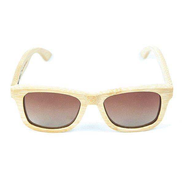 Óculos de Sol Polarizado em Madeira Bambu Beli Natural