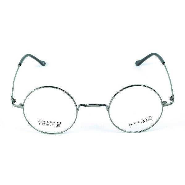 9be8b4833 Armação para óculos de grau em Titânio Hogwarts Prateado - Zabô ...