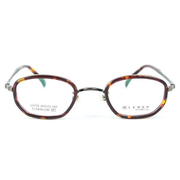 Armação para óculos de grau em Titânio Lensk Brest Estanho
