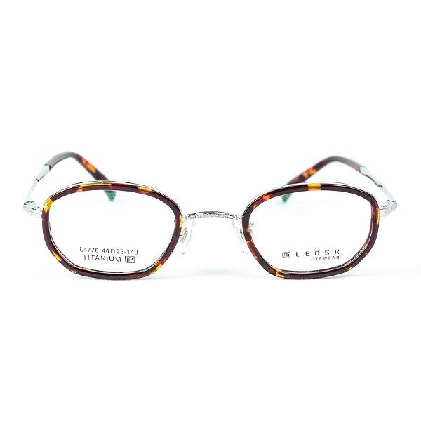 Armação para óculos de grau em Titânio Lensk Brest Prata