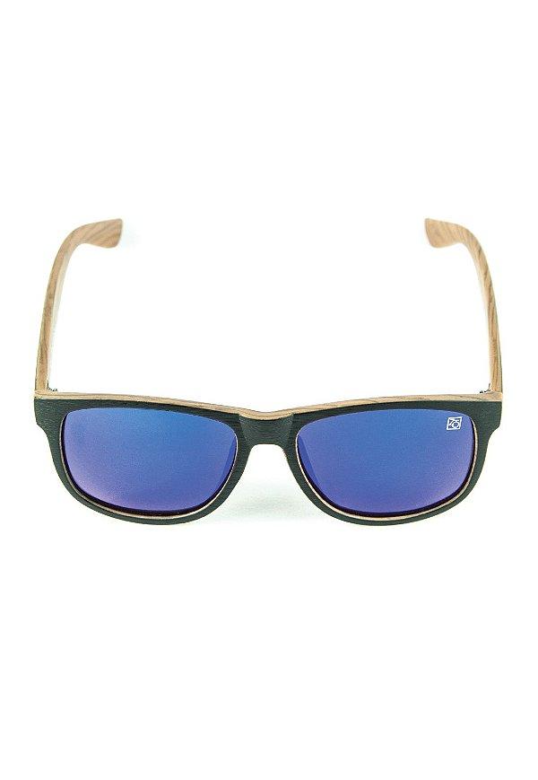 Óculos de Sol Polarizado Espelhado Zabô St. Tropez Amadeirado