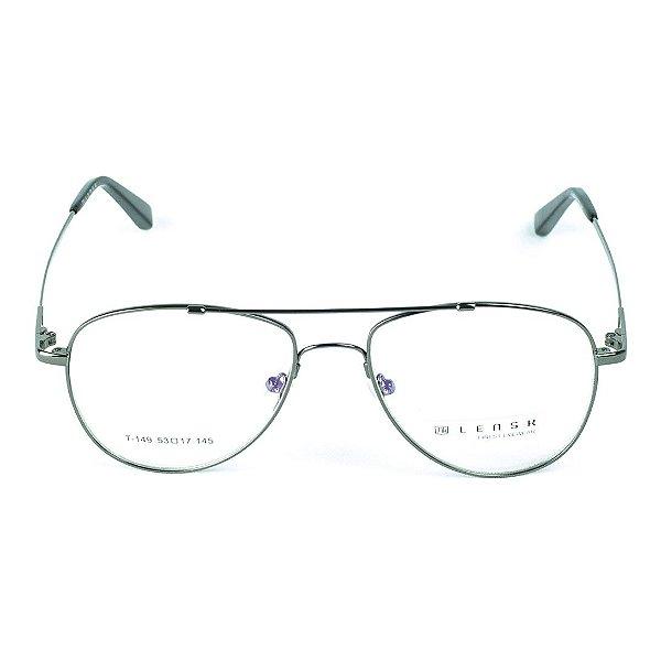 Armação para óculos de grau Lensk T-149 cor Chumbo