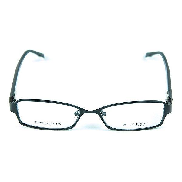 Armação para óculos de grau em metal Lensk F3103 Preto