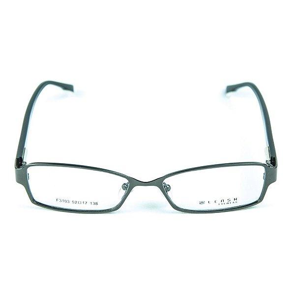 Armação para óculos de grau em metal Lensk F3103 Chumbo