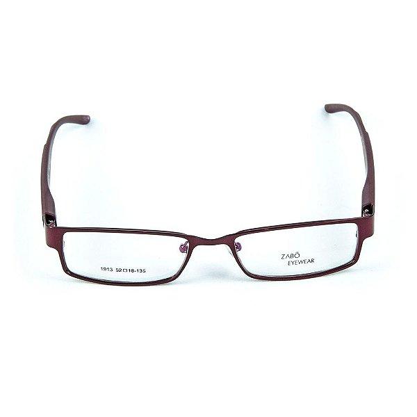 Armação para óculos de grau em metal Zabô Cuzco Bordo