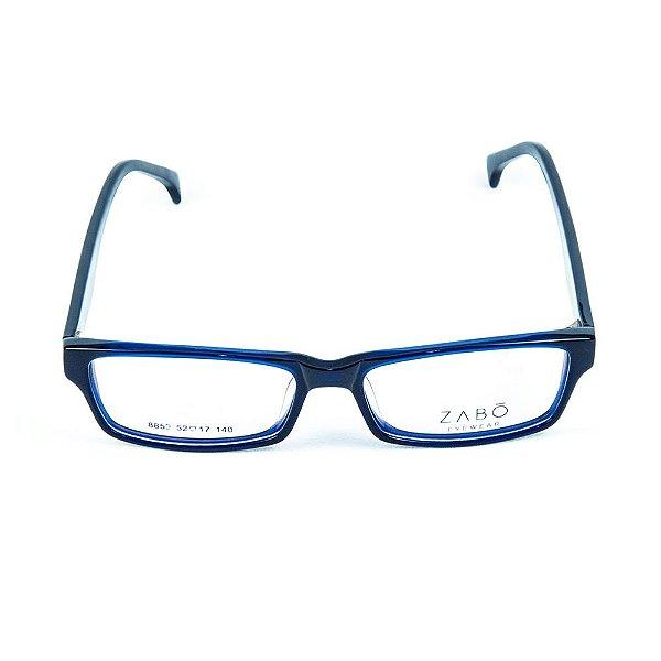 Armação para óculos de grau em Acetato Zabo Minsk Preto Azul