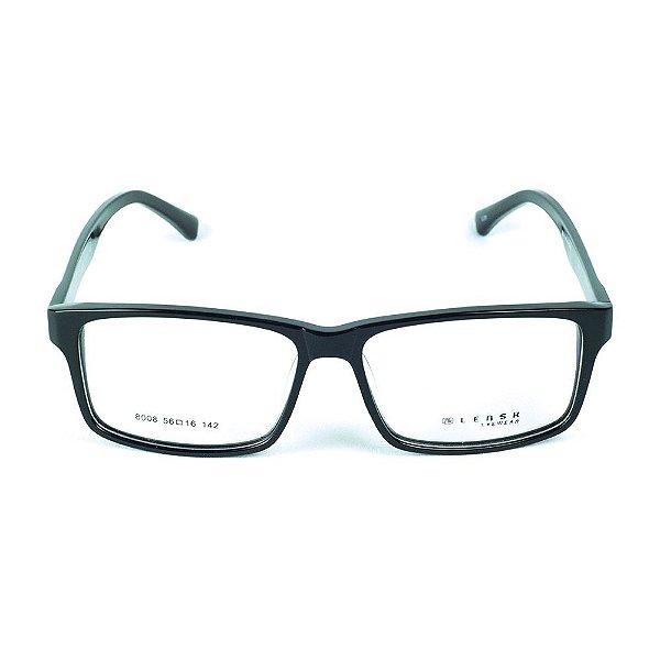 Armação para óculos de grau em Acetato Lensk 8008 Preto
