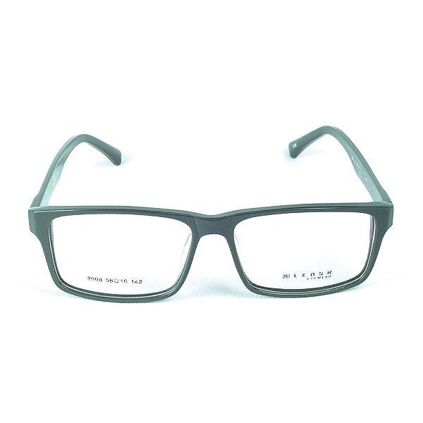 Armação para óculos de grau em Acetato Lensk 8008 Cinza
