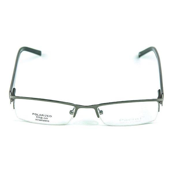 Armação para óculos de grau em metal Pacini Chumbo