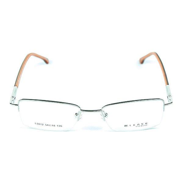 Armação para óculos de grau em metal Lensk 5012 Prateado