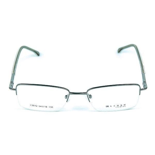 Armação para óculos de grau em metal Lensk 5012 Chumbo