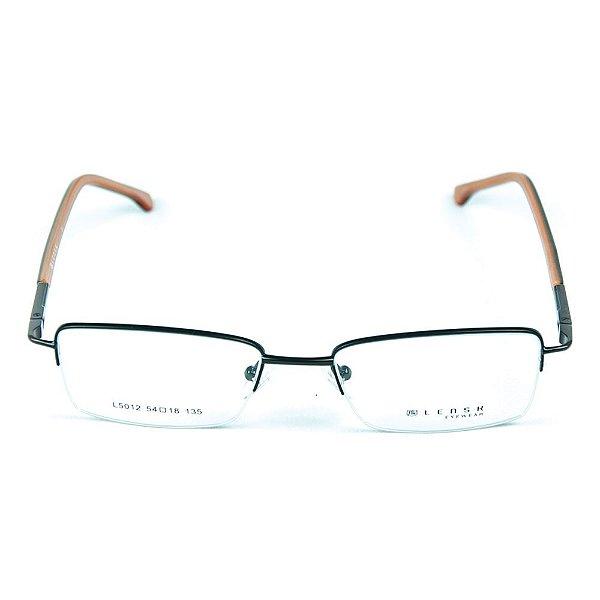 Armação para óculos de grau em metal Lensk 5012 Preto