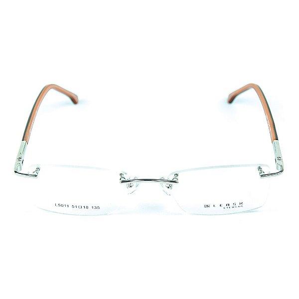 Armação para óculos de grau em metal Lensk 5011 Prateado