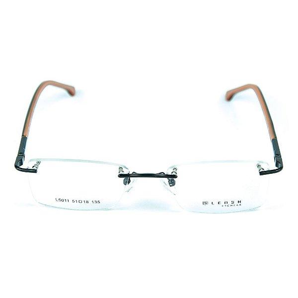 Armação para óculos de grau em metal Lensk 5011 Preto