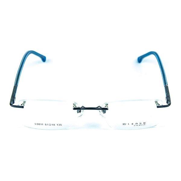 Armação para óculos de grau em metal Lensk 5011 Azul