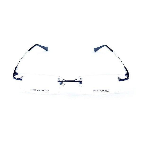 Armação para óculos de grau em metal Lensk 5507 Azul