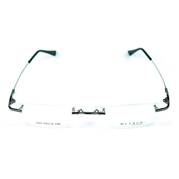 Armação para óculos de grau em metal Lensk 5507 Prata