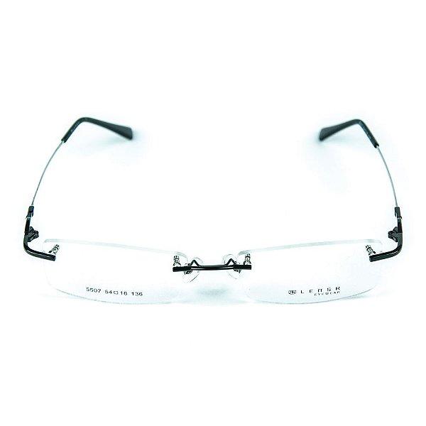 Armação para óculos de grau em metal Lensk 5507 Preto