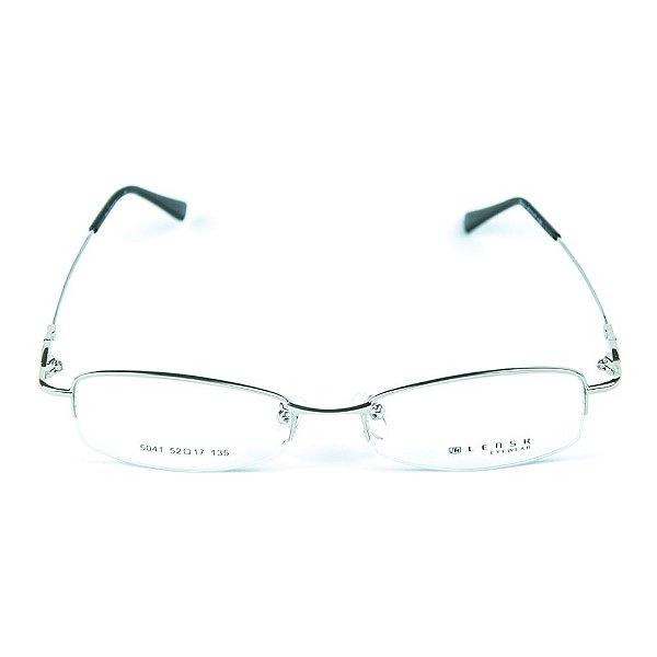 Armação para óculos de grau em metal Lensk 5041 Prata