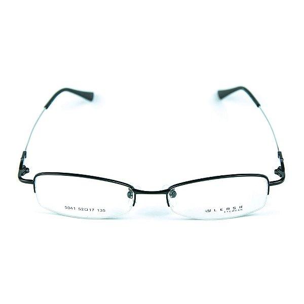 Armação para óculos de grau em metal Lensk 5041 Preto