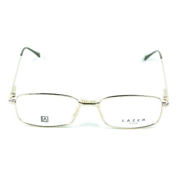 Armação para óculos de grau em  Metal L.A. 4034 Dourado
