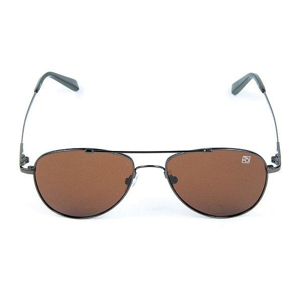 Óculos de Sol Polarizado T-149 Zabô Titânio Marrom Sol