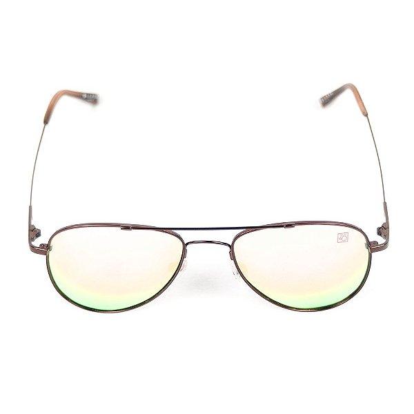 Óculos de Sol Polarizado T-149 Zabô Titânio Espelhado Rosa