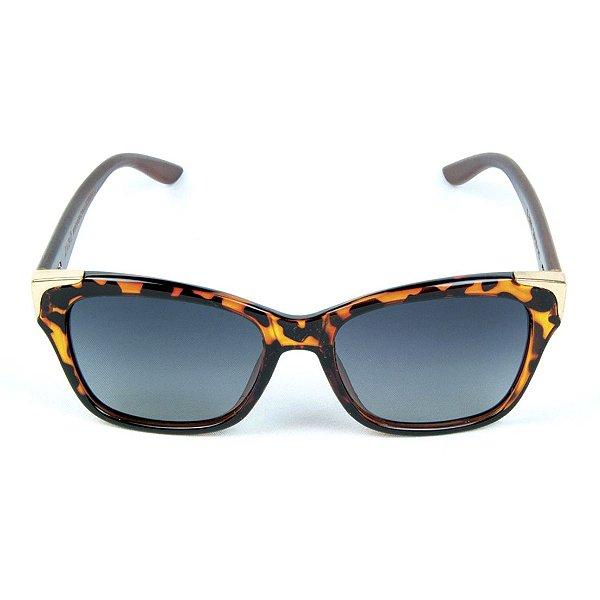 Óculos de Sol Polarizado Zabô Barcelona Tartaruga lente Preta