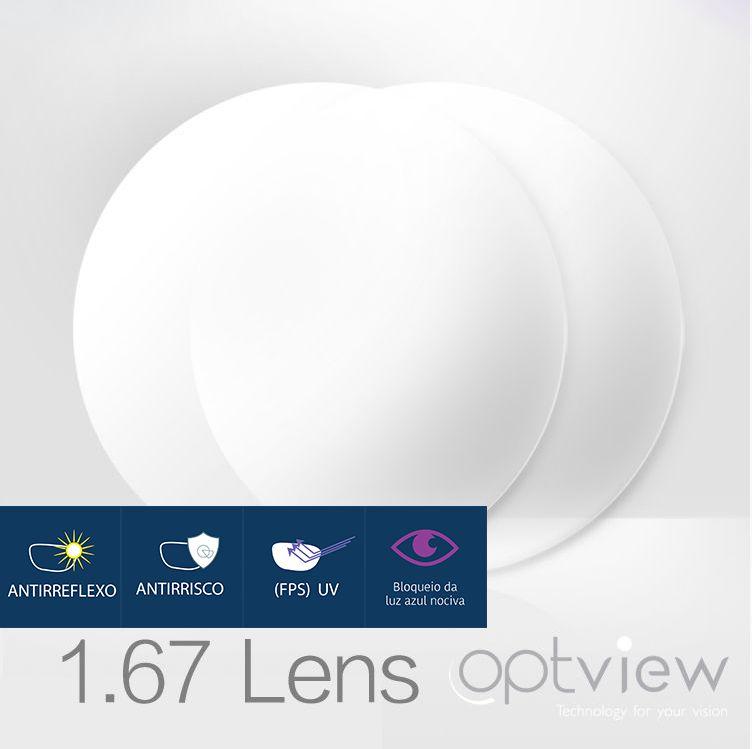 Lentes Digitais Optiview - Alto Índice 1.67 + Fastkot SH UV+