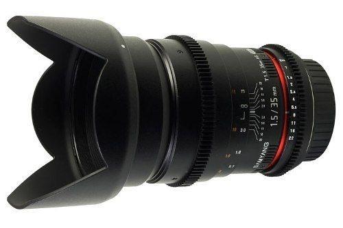 Lente Samyang 35mm Tcine T1.5  para Canon