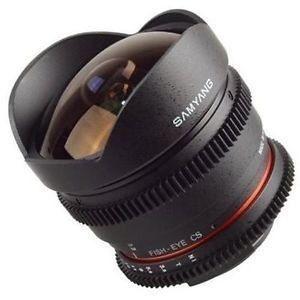 Lente Samyang 8mm Tcine T3.8 Fisheye para Canon
