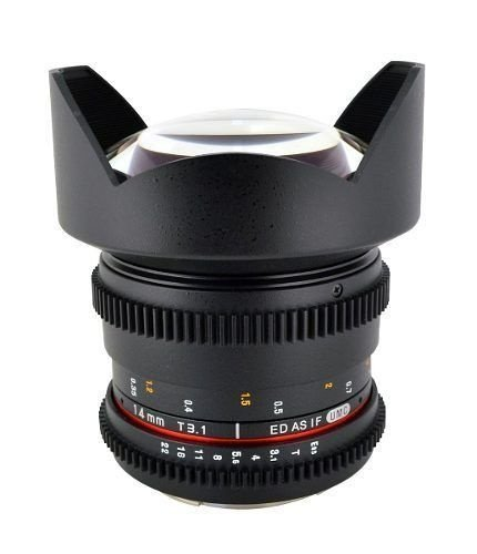 Lente Samyang 14mm Tcine T3.1 para Canon