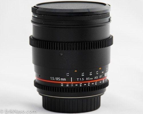 Lente Samyang 85mm Tcine T1.5 para Canon