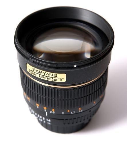 Lente Samyang 85mm F/1.4 Para Canon