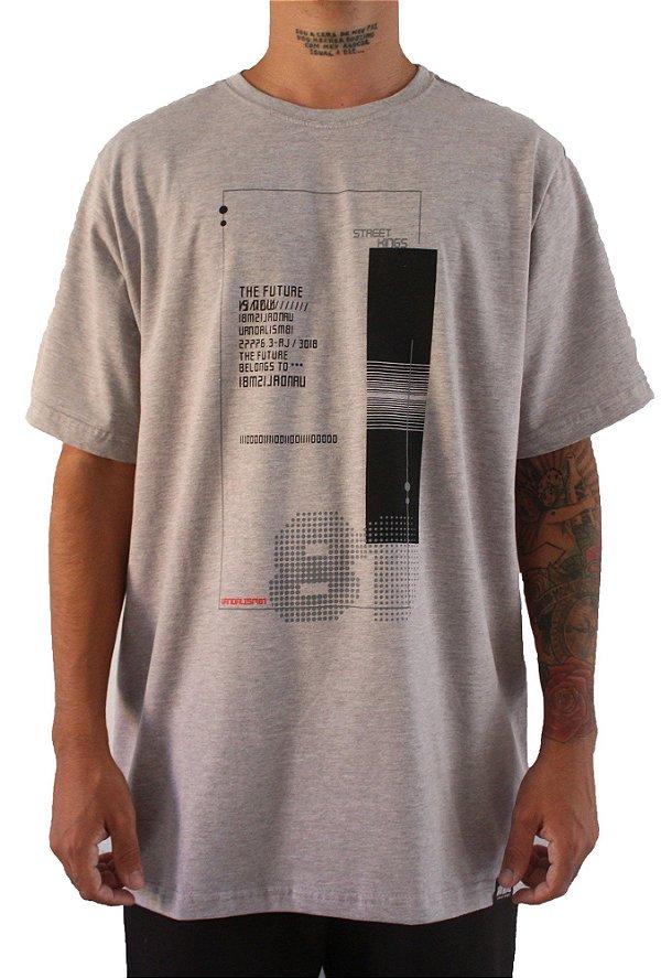 Camisa Masculina Vandalism81 Numeral Gray