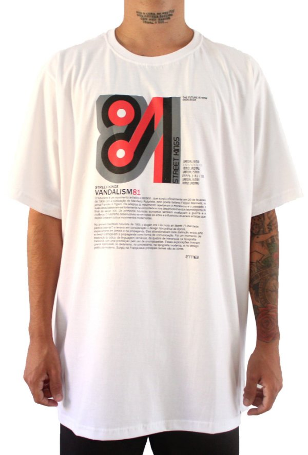 Camisa Masculina Vandalism81Futurism White
