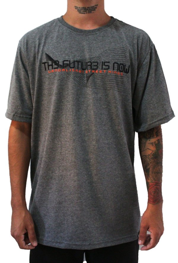 Camisa Masculina Vandalism81 TimeLine Gray