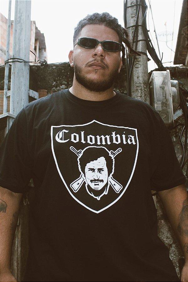 Camisa Masculina Vandalism81Colombia Preta