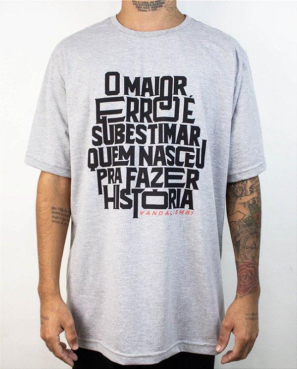 Camiseta O ERRO Mescla Claro