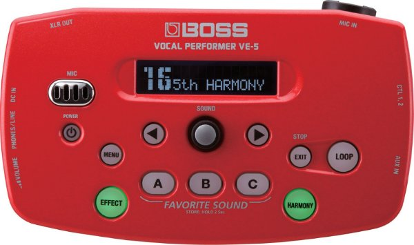 Pedaleira Boss VE-5 Vocal Performer