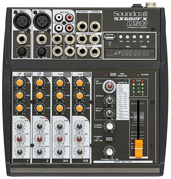 Mesa de Som Soundcraft Sx602 FX Usb