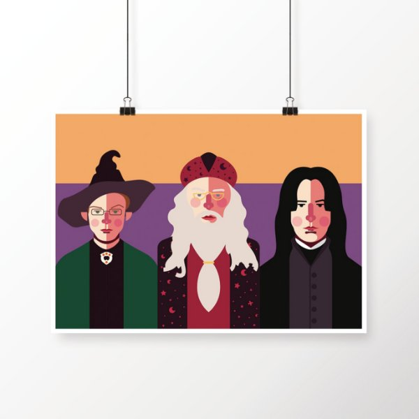 [poster] Os 3 Diretores - Harry Potter